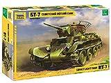 Zvezda 1:35 WWII Sov. Tanque Ligero BT-7, maqueta, Juego de construcción de plástico, para Montar, réplica Detallada. (3545)