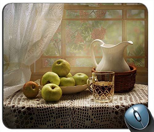 Green Apples Cup Kettle Fenstertisch Personalisierte Rechteck Maus Pad Mausmatte
