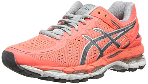 ASICS Damen Gel-Kayano 22 Laufschuhe, Orange (Flash Coral/Carbon/Silver Grey), 37 EU
