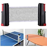 Aisaker Portable Retractable Table Tennis Net Rack/Replacement Ping Pong Accessory