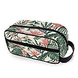 CPYang - Neceser de Viaje con diseño de Hojas de Palmera Tropicales, Bolsa de Maquillaje, Bolsa de Afeitado portátil para Hombres y Mujeres