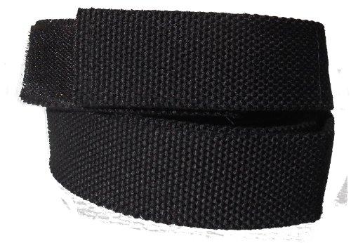 ABL Stoffgürtel Klett Koppel Gürtel mit Klettverschluss, schwarz 120 cm