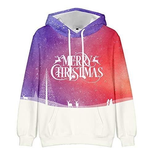 Mr.BaoLong&Miss.GO Herbst- und Winterliebhaber Weihnachtspullover Sweatshirt Bottoming Shirt Liebhaber Weihnachtsoberbekleidung Hoodies Eltern-Kind-Kleidung
