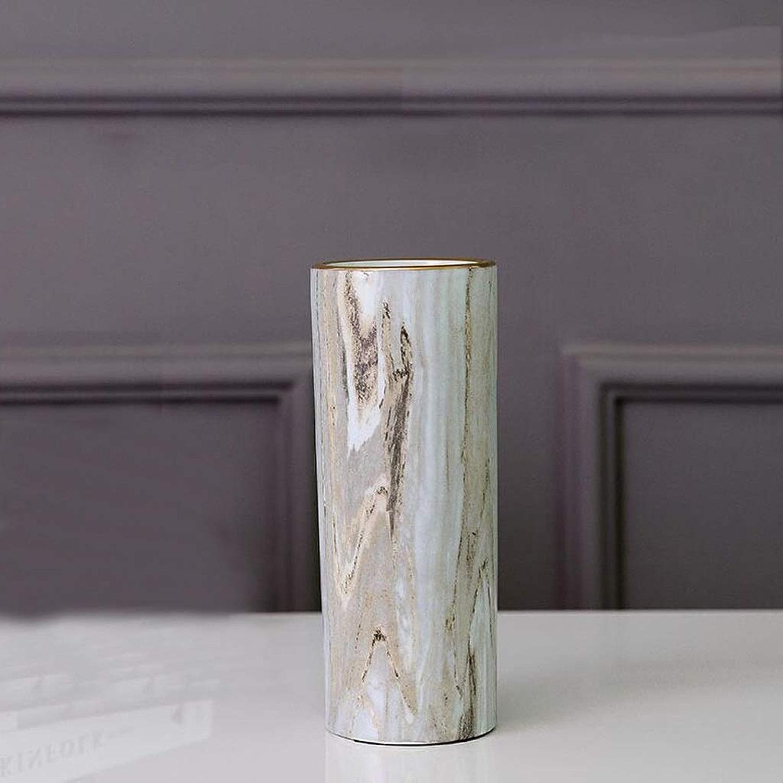 Vase Intérieur Artisanat OrneHommests Salon en Marbre DirecteHommest dans Le Vase QYSZYG (Taille   10cm×26cm)