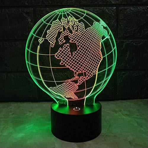 Luz nocturna clásica TV táctil de siete colores con luz y luz de conversión linda Lámpara de mesa pequeña LED 3D Interfaz USB Luz de control remoto táctil Luz de noche colorida