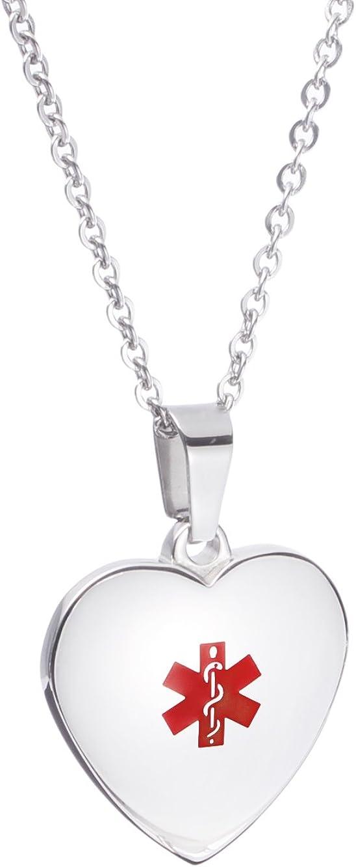 Sale SALE% OFF LinnaLove Free Engraving Heart Charm trust Medical ID Necklaces Alert