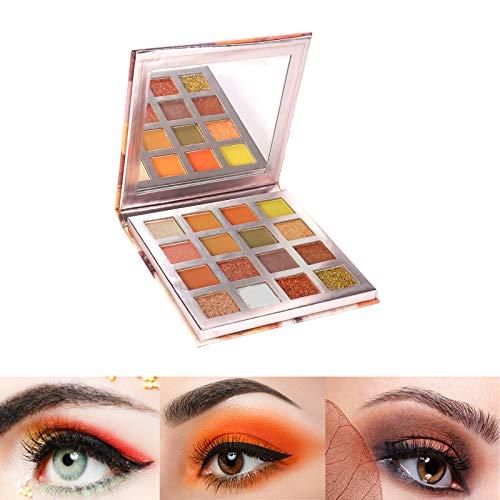 ONLYOIYL Paleta De Sombras De Ojos Profesionales - Paleta Maquillaje - Altamente Pigmentados 16 Colores Brillantes y Mate + Tres pinceles de sombra de ojos (02)