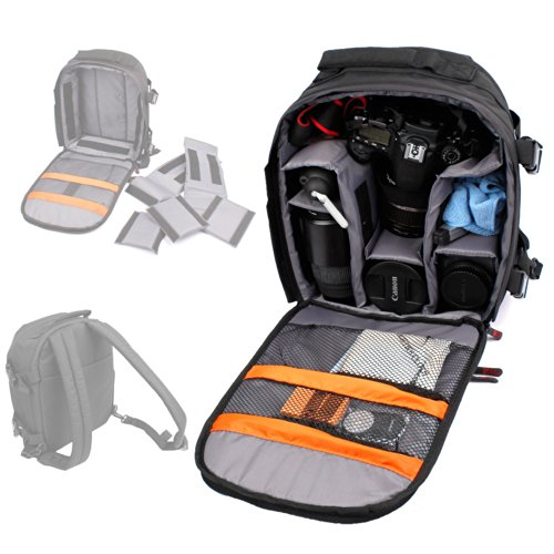 DURAGADGET Mochila Resistente Al Agua + Funda Impermeable para Cámara Light L16 | Lenovo Mirage Camera | Blackmagic Pocket Cinema Camera 4K