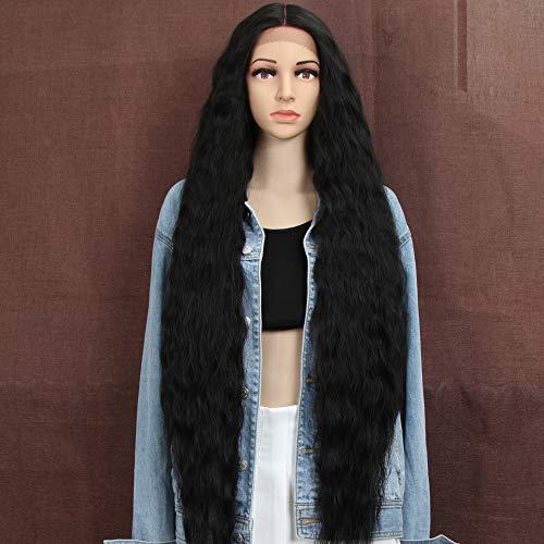 Style Icon Perruques Lace Front Wigs Synthetique 100cm Longue Perruque Ondulée Devant En Dentelle Perruque Pour Femmes Fibres Résistantes À La Chaleur