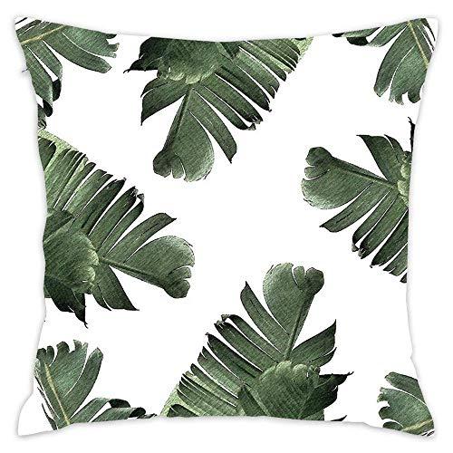 N\A Dekor Kissenbezüge Soft Decorative Square Throw Kissen Sofa Kissenbezüge Couch - Banana Leaf Frenzy Redbubble