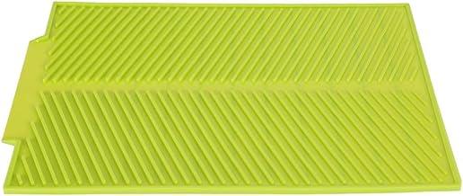 Jadeshay Drooglegmat - siliconen antislip schaal drogen mat droogschaal voor de keuken (kleur: groen)