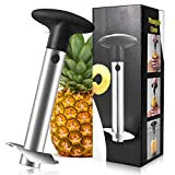 Food Grade Stainless Steel Pineapple Cutter, Upgraded, Reinforced, Thicker Blade, Pineapple Corer Slicer Peeler, Kitchen Pineapple Corer And Slicer Tool with Sharp Blade for Diced Fruit Rings