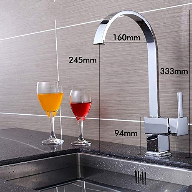 Lddpl Wasserhahn Quadratische Küchenarmaturen aus massivem Messing, Einhebelmanufaktur 8017C