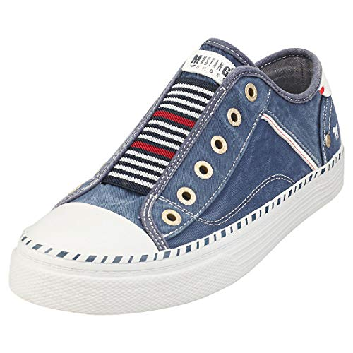 MUSTANG Damen 1376-401 Sneaker, Jeansblau, 38 EU