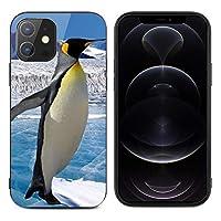 iPhone12mini ケース iPhone12 ケース iPhone12Pro ケース iPhone12ProMax ケース 強化ガラス ペンギン柄 軽量 ケース スマホケース レンズ保護 滑り止め 指紋防止 擦り傷防止 耐衝撃カバー 高級感