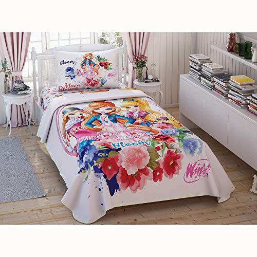 Producto 100% algodón 3 piezas Pique/Coverlet Set Winx Tiple