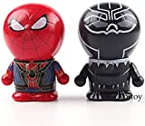 LEH-MOU Variarts Figurine Doraemon Cosplay Black Panther & Spiderman Hot Toys Mini Figura Colecciona...