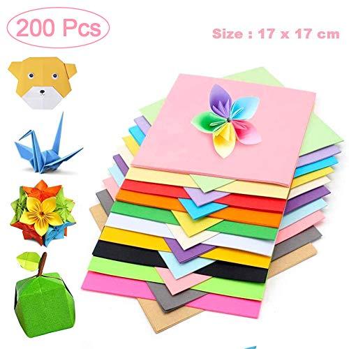 Faltpapier Kinder, Origami Bastelpapier, Faltpapier Bunt Quadratisch, Faltpapier Bastelprojekte, Origami Für Kunst Und Bastelprojekte, Origami Papier Für Diy Weihnachten(17 x 17 cm,B)