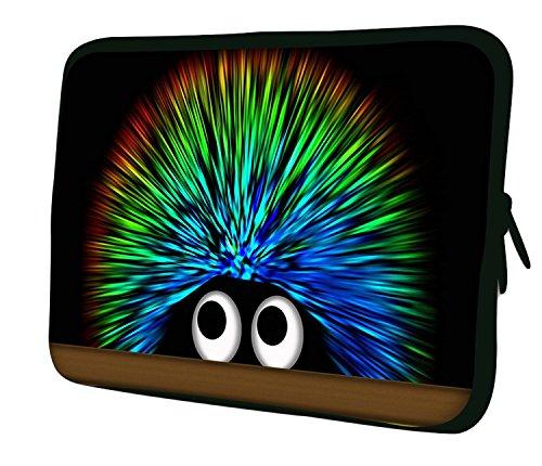 Luxburg 12' Pulgadas Bolso con diseño, Funda en Neopreno para Ordenador Portátil - Erizo de Colores