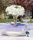 AmaCasa Vlies Tischband 23cm/20m Rolle Tischläufer Flower Vlies Hochzeit Kommunion (Flieder, Vlies) - 6