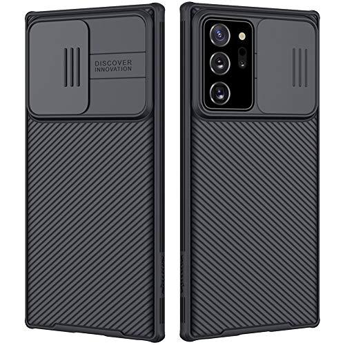 Mkej Case mit Slide Camera Cover Kameraschutz Camera Lens Protection Kompatibel mit Samsung Galaxy Note 20 Ultra Hülle, Robuste PC Handyhülle Cover Objektiv Schutzhülle Bumper Hybrid Hülle - Schwarz