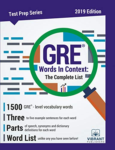 GRE Words In Context The Complete List (Test Prep)