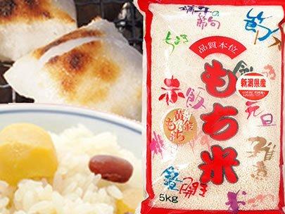 【玄米】新潟県産 白米 玄米 最高級もち米 こがねもち 5kg(長期保存包装)x1袋 平成30年産