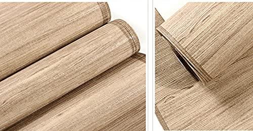 3D Carta da parati in tessuto non Paglia semplice e semplice in stile giapponese moderno Marrone chiaro Carta da parati soggiorno Camera da letto Murale per ufficio Decorazione la casa 9.5m x 0.53m
