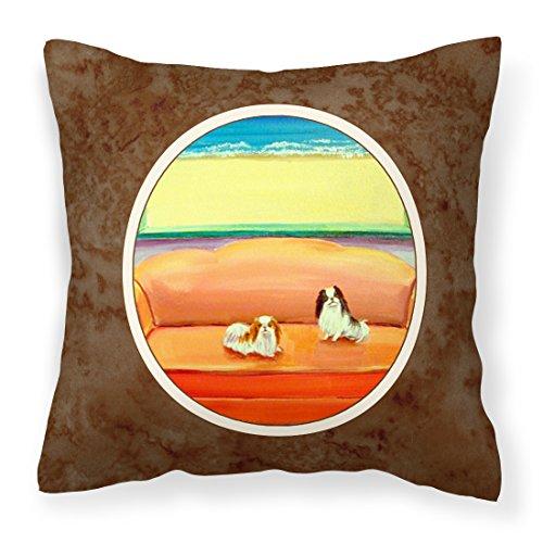 Caroline Tesoros del Japonés Chin sofá Sentado Tejido Decorativo Almohada 7187pw1414, 14hx14W, Multicolor