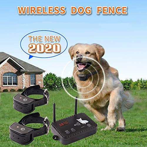 JUSTPET Wireless Dog Fence Containment System, Dual Antenna Stronger...