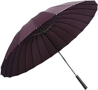 YQRYP Umbrella Long Handle Umbrella Super Windproof Rain Dual-use Umbrella Male Business Straight Handle Umbrella Female Double Straight Umbrella Windproof Umbrella, Golf Umbrella (Color : Purple)
