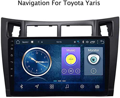 WY-CAR Android 8.1 Quad Core Coche Autoradio GPS Navegación para Toyota Yaris 2008-2011 | 9 Pulgada | Pantalla LCD Táctil | DVD | USB | WLAN | 4.0 Bluetooth
