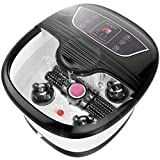 Foot Spa Bath Massager with Automatic Shiatsu Massaging Rollers and Maize Roller and Heat Bubbles Multi-Mode, Auto Pedicure Stone,Temperature Control Vibration and Red Light for Home/Office Use