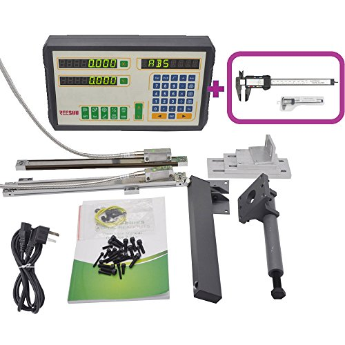 IP67 HIGH ACCURACY MAGNETIC SCALE 2 AXIS DRO/DIGITAL READOUT KITS FOR LATHE MACHINE (D100X12''X32'')