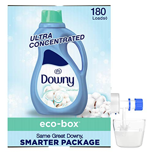 Downy Eco-box Ultra Concentrated Liquid Fabric Conditioner (fabric Softener), Cool Cotton, 180 Loads, 105 Fl Oz