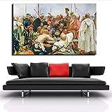 Danjiao Russisches Berühmtes Gemälde Von Repin Zaporoges Kosaken Antwortete Auf Einen Brief Des Osmanischen Sultans Mohammed Iv Canvas Paintings Wohnzimmer 40x60cm