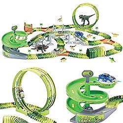 1. WESPREX Dinosaur Track Playset with 360-degree Ferris Wheel (280pcs)