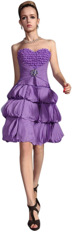 Dearta Women's ALine Sweetheart Short Mini Organza Evening Dresses