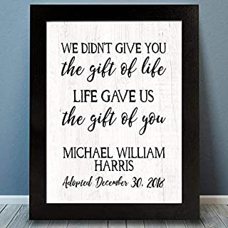Adoption Day Framed Print | Adoption Plaque | Unframed Adoption Gift | Gotcha Gift | Gotcha Day | Adoptive Parents Gift | Gotcha Day | Adoption Gift | Adoption Photo Prop | Adoption Keepsake