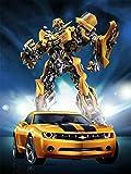 XRH Puzzle Juego De Descompresión Transformers Bumblebee Poster Figura 500/1000/1500 Piezas (1000 Piezas)
