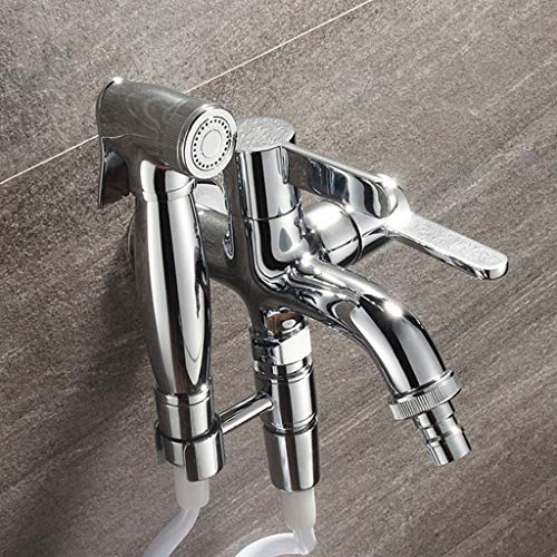 Shower Spray Hand Held Bidet Sprayer Kit Stainless Steel Sprayer for Sink Or Toilet with Faucet, The Best Gifts for Home B