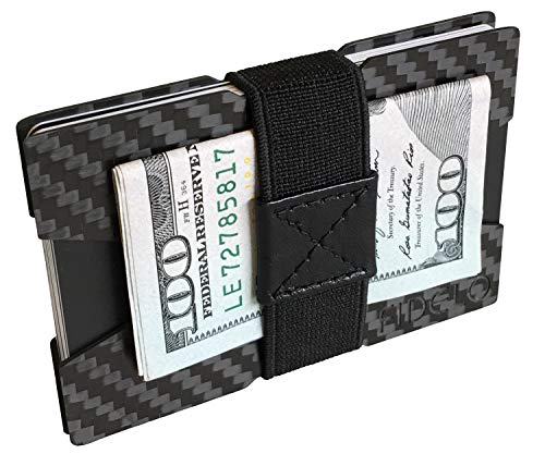 FIDELO Carbon Fiber Minimalist Wallet - Slim Credit Card Holder Money Clip...