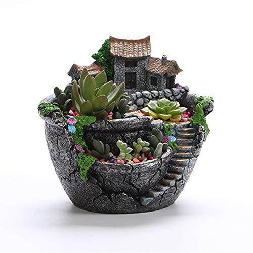 Tritow Style de Bande dessinée Creative Protection de l'environnement Bureau Paysage Pot De Fleur Jardin Design Fleurs Paniers Plantes Succulentes Titulaire Maison Bonsaï Pots
