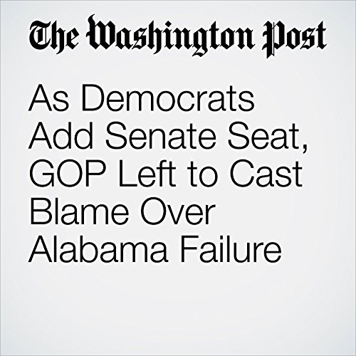As Democrats Add Senate Seat, GOP Left to Cast Blame Over Alabama Failure copertina