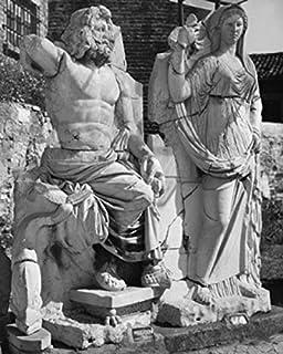 Posterazzi Statues of Poseidon and Demeter Izmir Turkey Poster Print, (24 x 36)