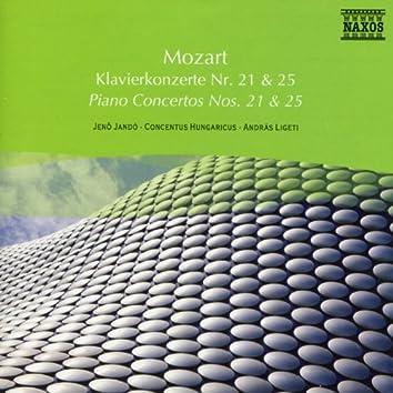 Mozart: Piano Concertos Nos. 21 and 25