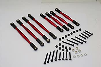 Gmade Komodo Upgrade Parts Aluminum 4mm Anti-Thread Upper+Lower Link Parts - 8Pcs Set Red