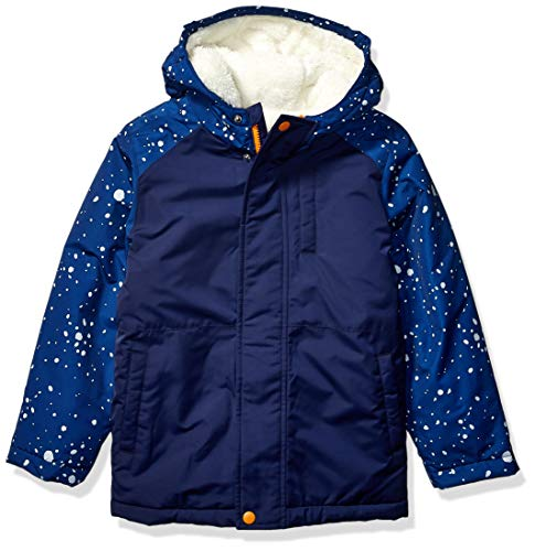 Spotted Zebra Warm Puffer infant-and-toddler-down-alternative-outerwear-coats, Navy Space, Small (6-7)