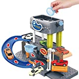 oil-LIKIO Car Toy Automatic Lift Car Wash Set Toy with Color Changing Alloy Cars Childrend Gift