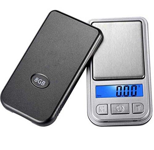Bolayu Digital Portable Pocket Scale 0.01g-200g LCD Ultrathin Jewelry Drug